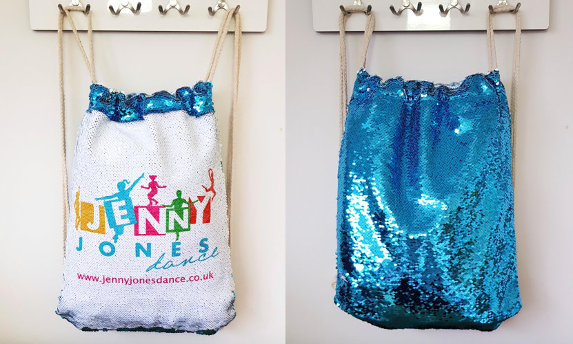 Jenny Jones Dance Sequin Drawstring Bag